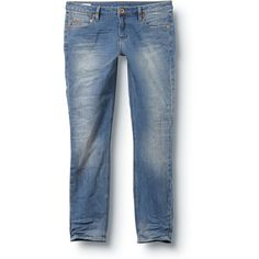 Quiksilver Echo Beats Rogue Blue Crop Jeans ($46) ❤ liked on Polyvore
