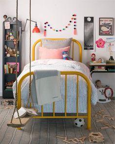 Chiapas Pompom String Available at Zinnia Folk Arts Designer Spotlight: Schoolhouse Electric Big Girl Rooms, Boy Room, Kids Rooms, Girls Bedroom, Bedroom Decor, Bedrooms, Fairytale Bedroom, Schoolhouse Electric, Kids Decor