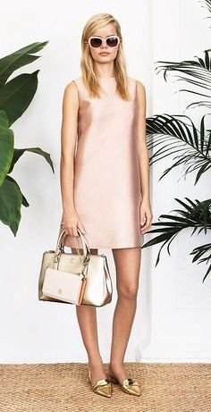 Spring Trends: Blush. The perfect @Victoria McCoy Burch shift dress.