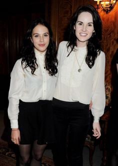 Michelle Dockery and Jessica brown findlay   Jessica Brown Findlay and Michelle Dockery   People I admire