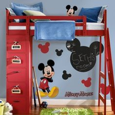 For Adrianna's upcoming Mickey Mouse Room. I love the chalkboard wall sticker!