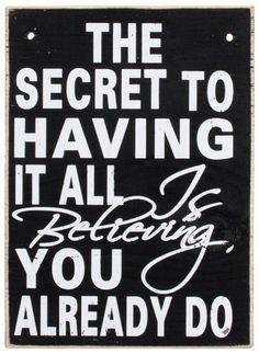 life's secret