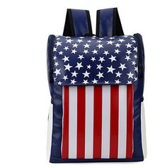 Chicnova Fashion Preppy Style American Flag Stripe Print Backpack