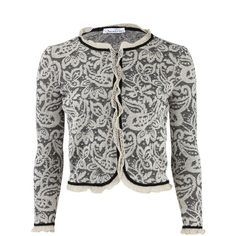 Classic revised Oscar de la Renta Long Sleeve Lace-Knit Cardigan Jacket ($1,590) ❤ liked on Polyvore