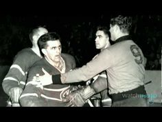 """Maurice """"Rocket"""" Richard's assault on a linesman sparked one of the darkest chapters in hockey history the March 17 1955 riot that would mark the end of an era for the NHL and some believe the province of Quebec. Hockey Teams, Hockey Players, Sports Teams, Montreal Canadiens, Stanley Cup Champions, Canada, Vintage Photographs, Nhl, The Darkest"""