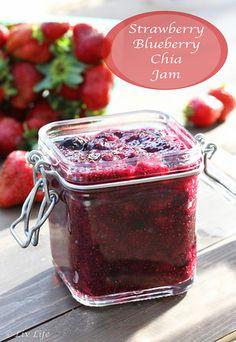 Strawberry Blueberry Chia Jam... it's like you put the farmer's market in a jar!!  | Liv Life @livlifetoo