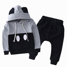 Minimalist Mickey Jogger 2 pc suit - Little Knot Heads - baby boy - Toddler Outfits, Baby Boy Outfits, Kids Outfits, Toddler Dress, Newborn Outfits, Toddler Boy Fashion, Kids Fashion, Fashion Clothes, Fashion Outfits