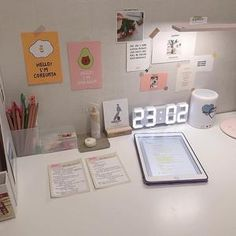 """"""" Pink is the soul colour❤️ """" Rabbit Ears Transparent Card Holder for Choose according to colour only Study Room Decor, Bedroom Decor, Desk Inspiration, Desk Inspo, Just In Case, Just For You, Study Corner, Desk Layout, Uni Room"""
