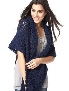 Free Pattern - Crochet this soft, sparkling shawl -- perfect for yourself or as a gift for a loved one.thanks so xox