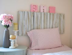 Reclaimed Pallet Wood Shabby Chic Headboard  by ShabbyChicLife, $150.00