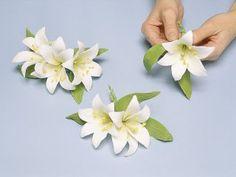 como hacer flores de pastillaje paso a paso - Buscar con Google