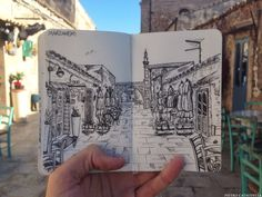 Live Sketch of a small fishing village located in southern Sicily....