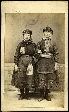 Female worker/s from the Tredegar ironworks in ragged clothing with protective headwear and tools, by W Clayton of Tredegar, Wales, 1865. | Flickr - Photo Sharing!