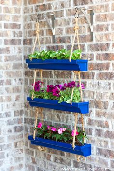 To Make Hanging Rain Gutter Planters How To Make Hanging Rai., How To Make Hanging Rain Gutter Planters How To Make Hanging Rai., How To Make Hanging Rain Gutter Planters How To Make Hanging Rai. Diy Hanging Planter, Diy Planters, Garden Planters, Planter Ideas, Planters For Front Porch, Diy Front Porch Ideas, Front Porch Seating, Front Porch Garden, Hanging Pots