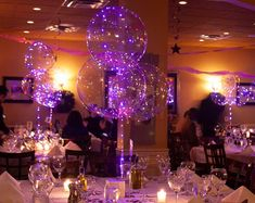 Purple LED Balloons 18 Inch Clear Balloons Purple LED | Etsy