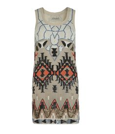 Aztec Mini Dress, Women, Dresses, AllSaints Spitalfields
