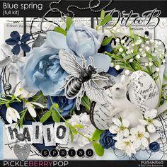 Blue Springs, Spring Collection, Word Art, Digital Scrapbooking, Overlays, Floral, Stuff To Buy, Inspiration, Design