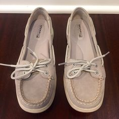 Sperry Top-Sider Boat Shoes Sperry Top-Sider Gray Women's Angelfish Boat Shoes. Excellent used condition-only worn twice! Size 6.5. Sperry Top-Sider Shoes