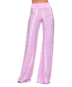 0805d8af6a719 Frumos Lavender Tie-Dye Palazzo Pants - Women   Plus