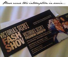 victoria's secret fashion show invitation | invitations ...