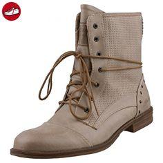 Mustang Damen Stiefelette Beige, Schuhgröße:EUR 45 (*Partner-Link)