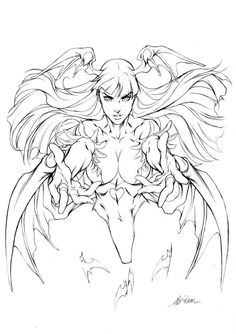 Morrigan - Ultimate Edish - Pencils by alvinlee on DeviantArt