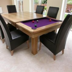 Pool Table Dining Room Table With Bench