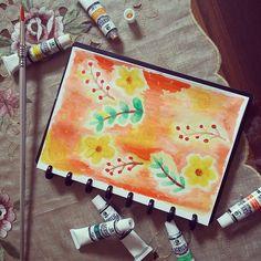 sunset blossom Karya : Nanda Rela Qonita  Tools: Lyra a5 sketch book Marie's acrylic colour brushes