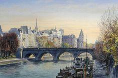 View album on Yandex. Watercolor City, Thierry, Paris Art, Illustrations, Color Theory, Views Album, France, World, Painting