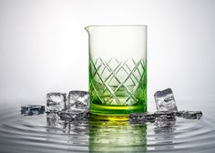 Czech designer Martin Jakobsen has created glowing uranium-glass tumblers, adding to his output of unusual glassware.