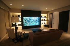 Romo Residence with custom aquarium by Fish Gallery