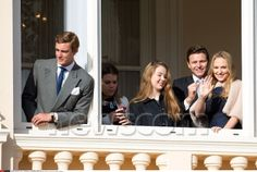 Pierre Casiraghi, Princess Alexandra of Hanover, Gareth Wittstock and Roisin Galvin attend the official presentation of the Monaco Twins in Monaco, 1/7/2015