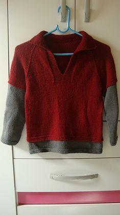 Ravelry: Telemark Pullover pattern by Erika Flory Easy Baby Knitting Patterns, Baby Sweater Knitting Pattern, Knitting For Kids, Baby Boy Cardigan, Baby Pullover, Crochet Boots, Knit Crochet, Garter Stitch, Baby Sweaters