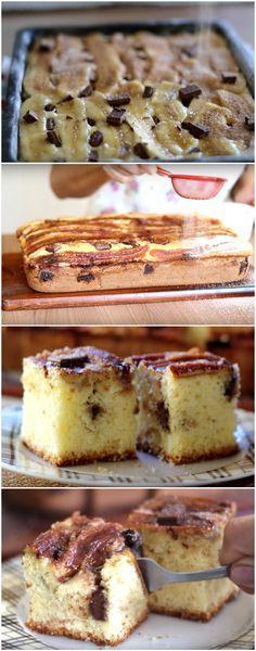 BOLO DE BANANA COM CHOCOLATE... FOFINHO E MOLHADINHO AO MESMO TEMPO! D-E-L-I-C-I-O-S-O! (veja como fazer) #bolo #banana #chocolate #bolodebanana #bolodebananacomchocolate