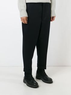 drop-crotch tailored trousers
