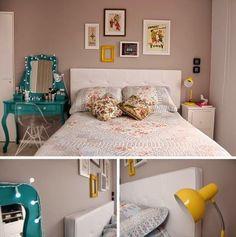 Decor: Criados mudos diferentes no quarto do casal!