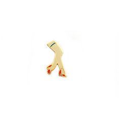 """Let's get leggy with it! Show a little a flair with our leg hard enamel pin  in nude!  Details:  .56"""" w x .8"""" h, 2 mm  Brass with Gold Plating  Yellow Rubber Back  Lead-Free"""