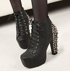 New 2015 Plus Size Ultra High Heels Shoes Woman fashion boots,Spikes ankle Boots,Rivet Bota,Women Platform Boots,Lady shoes