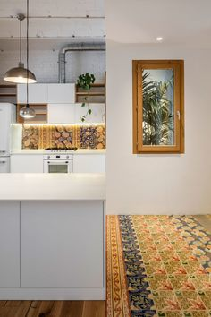 Photo 9 of 14 in A Dramatic Apartment Renovation in Barcelona Features Salvaged Tile and Brick - Dwell