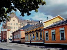 Vasaesplanade wooden houses. - Vaasa, Finland., Vaasa, Finland.  Birthplace of Matts Jonsson Abbel (MNXM-4P8) born about 1575.  And his wife Mrs. Matts Jonsson Abbel (MNXM-453) born about 1580.  5 generations after them were born here with the last ones born here in 1735 and 1738.  See pedigree charts for names.
