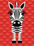 Mibo Zebra Greetings Card Sold in Zebra Kunst, Zebra Art, Zebra Pictures, Marker, Animal Cutouts, Animal Templates, Dibujos Cute, Postcard Art, Safari Animals