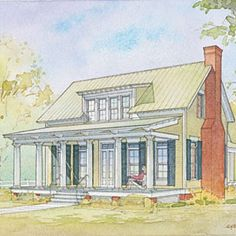 Top 12 Best-Selling House Plans: #8 Lowcountry Cottage, Plan #1121