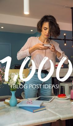 1,000 blog post ideas! Blog post ideas for all types of blogs, from mommy bloggers to fitness  bloggers! Imagine never having to come up with a post idea for over 3 YEARS!  https://www.etsy.com/listing/606995205/one-thousand-blog-post-ideas-for-all?ref=shop_home_active_1