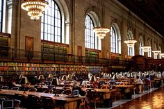 new york public library. oh how I would love to get lost in here for a day...or three <3
