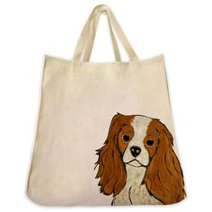 Description: The Cavalier King Charles Spaniel color 10 oz. cotton twill tote bag is the perfect gift for the Cavalier King Charles Spaniel or dog lover in your life. These tote bags are handmade from
