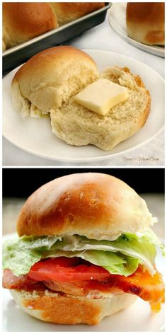 Butter Rich Dinner or Sandwich Rolls These delicious rolls can be used as dinner or sandwich rolls for your holiday celebrations. Use them during dinner along with you meal and afterward for sandwiches They will quickly become a favorite in your house! Popular Recipes, Great Recipes, Dinner Recipes, Favorite Recipes, Dinner Bread, Good Food, Yummy Food, Wrap Sandwiches, Dinner Rolls