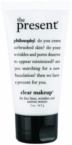 The Present is in a class by itself! I have never seen a facial product do more! After applying sunscreen and/or moisturizer, apply The Present. This product will make your foundation (preferably philosophy airbrush canvas) go on smoothly, and makes it adhere to your skin. Your skin is smoothed out filling in lines and wrinkles, as well as large pores. It is just the greatest product ever. Sharon Perkins, Cordele, GA
