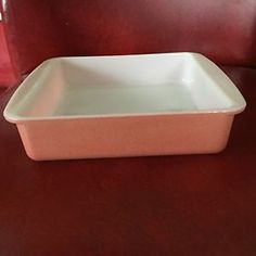 Vintage Pyrex Desert Dawn Pink Speckled 8 Inch Square Cake Pan #222 Casserole & Vintage Pyrex Yellow Desert Dawn Pie Plate Shallow Ovenware Dish ...