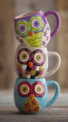 Renkli, eğlenceli, hayvan motifli kupa bardaklar...