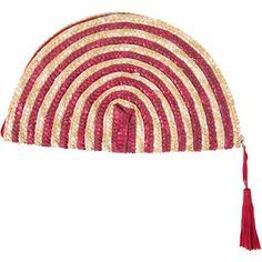 ELOQUII Striped Fan Clutch